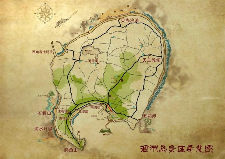 涠洲岛景区导览图